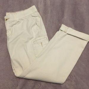 Hollister White Capri Pants